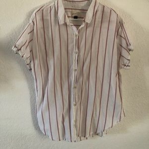 Universal Threads Pinstripe Button up